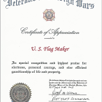 Veterans of Foreign Wars Certificate